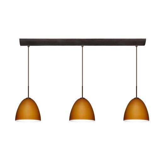 Besa Lighting Vila 3 Light Pendant with Bar Canopy