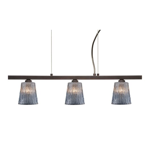Besa Lighting Nico 3 Light Linear Pendant