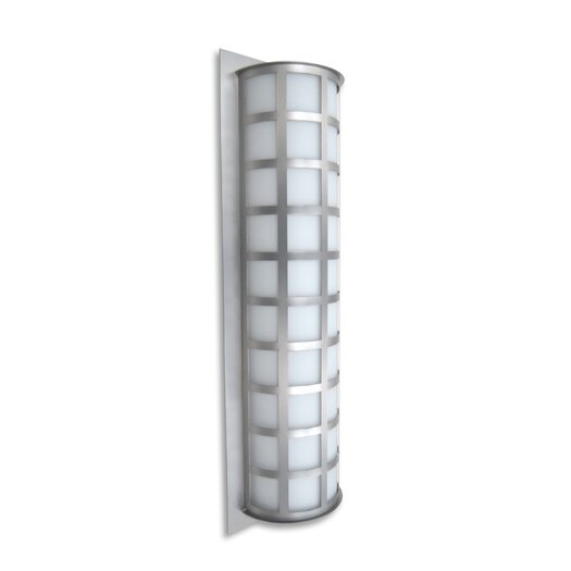 "Besa Lighting Scala 28"" High Brushed Aluminum Wall Light"