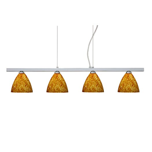 Besa Lighting Mia 4 Light Cable Hung Linear Pendant