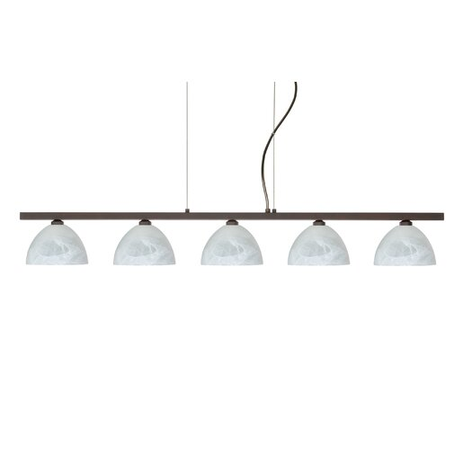 Besa Lighting Brella 5 Light Linear Pendant