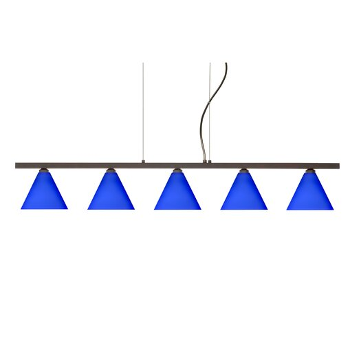 Besa Lighting Kani 5 Light Cable Hung Linear Pendant