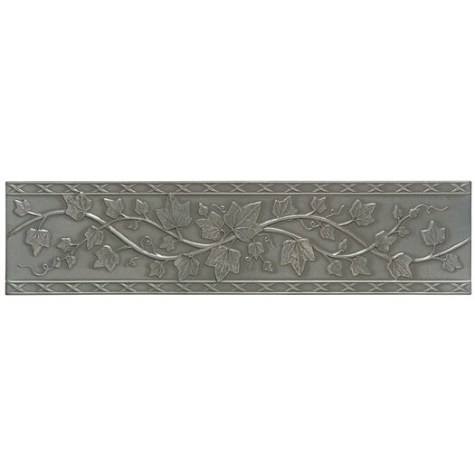 "Mohawk Flooring Artistic Accent Statements Metal 12"" x 3"" English Ivy Decorative Border in Vintage Pewter"