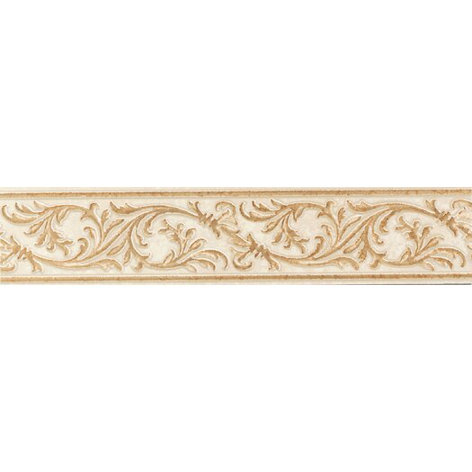 "Mohawk Flooring Natural Bella Rocca 9"" x 2""  Decorative Accent Strip in Etruscan Gold"