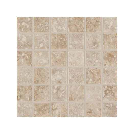 "Mohawk Flooring Steppington Decorative 2"" x 2"" Ceramic Mosaic in Baronial Beige and Traditional Taupe Blend"