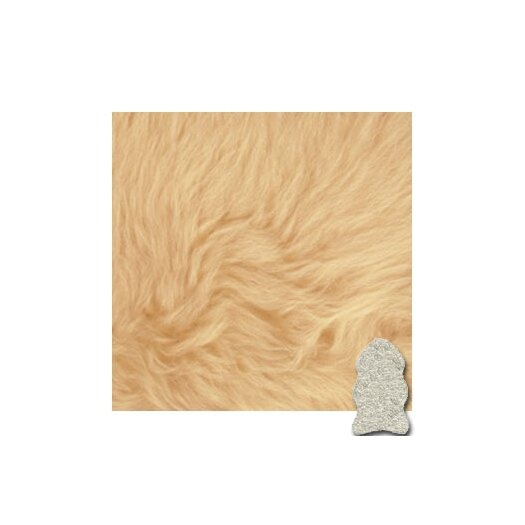 Bowron Sheepskin Rugs Autum Champagne Gold Star Longwool Area Rug