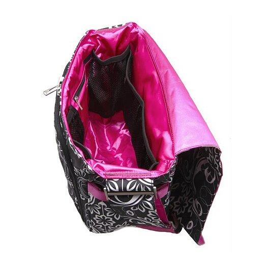 Ju Ju Be Be All Messenger Diaper Bag in Shadow Waltz