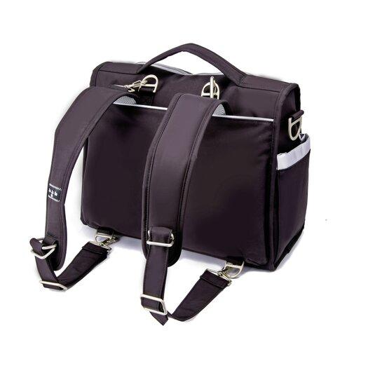 Ju Ju Be BFF Messenger / Backpack Diaper Bag in BlackSilver