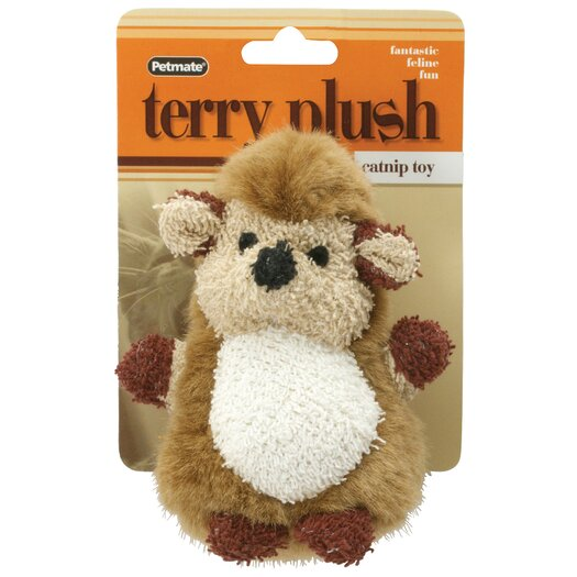 Petmate Terry Plush Hedgehog Cat Toy