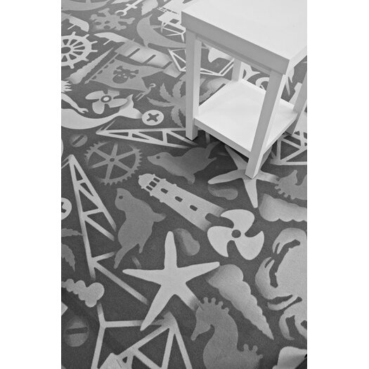 Moooi Carpet Firmship White/Grey Area Rug