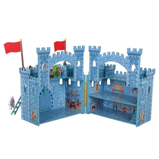 Teamson Kids Hand Carry Castle Boys with Figurines