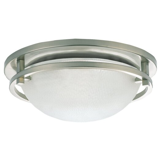 Sea Gull Lighting 2 Light 60W Flush Mount