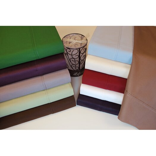 Simple Luxury 400 Thread Count Egyptian Cotton Solid Pillowcase Pair