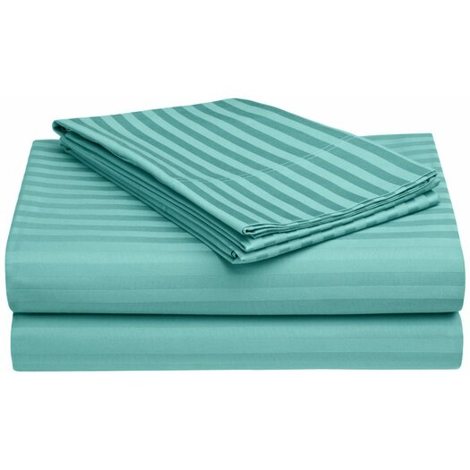 Simple Luxury 650 TC Egyptian Cotton Stripe Sheet Set