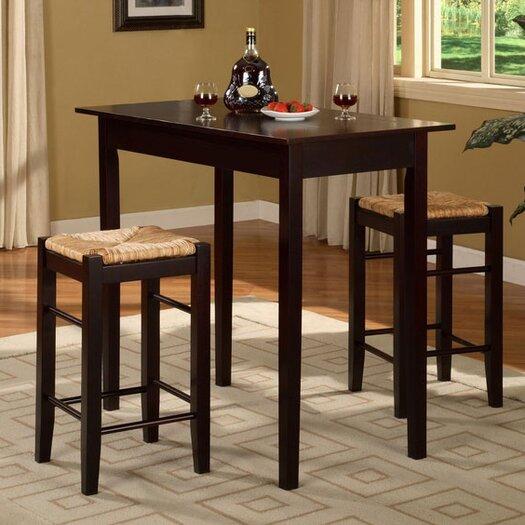 Linon Tavern 3 Piece Counter Height Dining Set