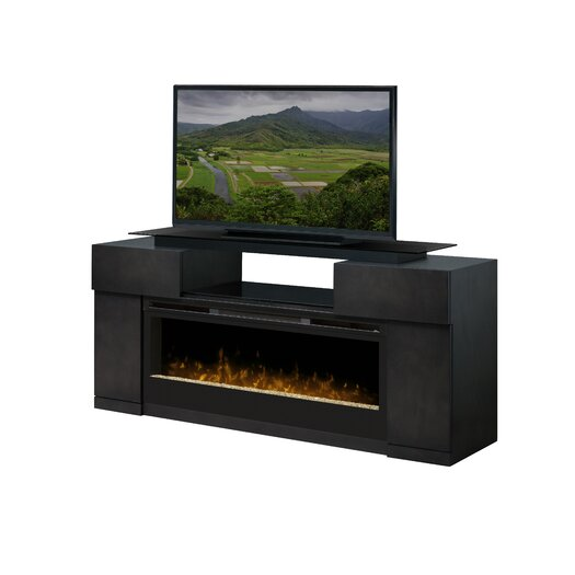 """Dimplex Concord 73"""" TV Stand with Electric Fireplace"""