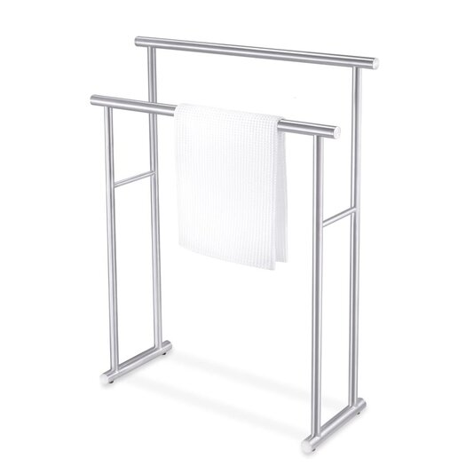 zack bathroom accessories free standing finio towel rack allmodern. Black Bedroom Furniture Sets. Home Design Ideas