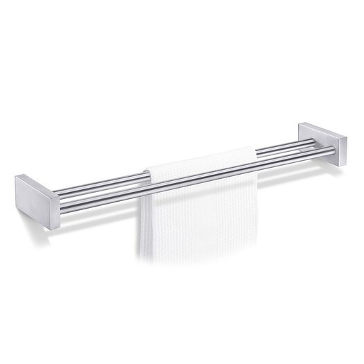 "ZACK Bathroom Accessories 24.8"" Wall Mounted Fresco Double Towel Bar"