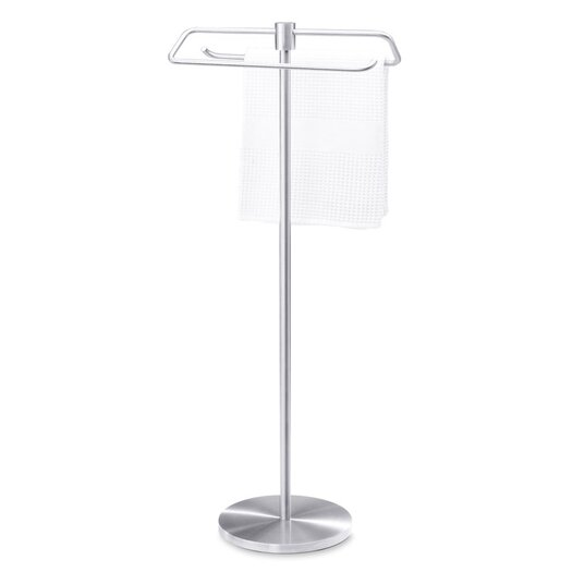 Zack bathroom accessories free standing marino towel rack for Bathroom accessories stand