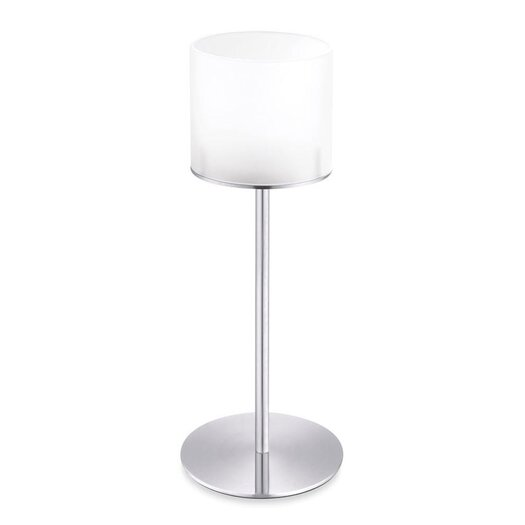ZACK Lamps Stainless Steel and Frosted Glass Tealight