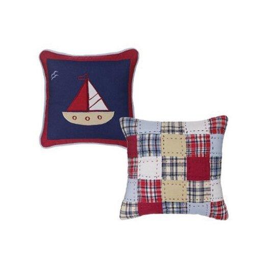Bacati Boys Stripes and Plaids Decorative Pillow (2 piece set)
