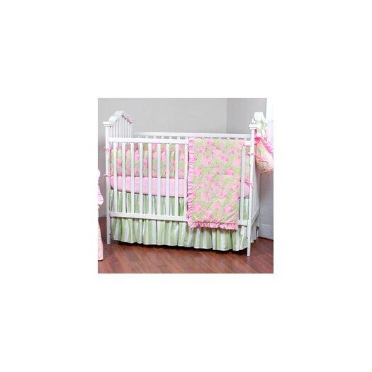 Bacati Flower Basket 4 Piece Crib Bedding Set