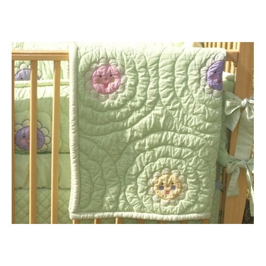 Bacati Smile With Me Quilted Boudoir
