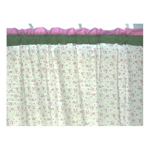 Bacati Summer Garden Cotton Rod Pocket Curtain Panel