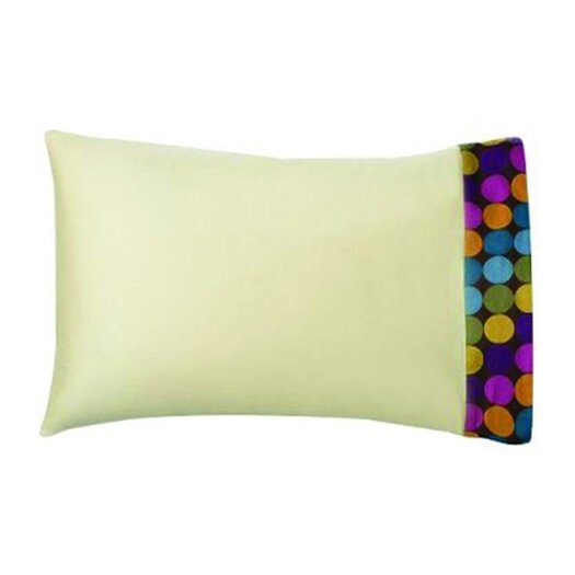 Bacati Dots and Stripes Spice Standard Pillowcase