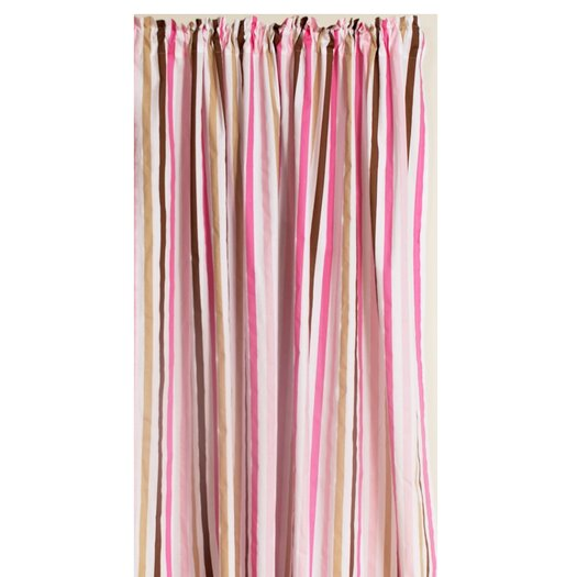 Bacati Mod Stripes Cotton Rod Pocket Curtain Panel
