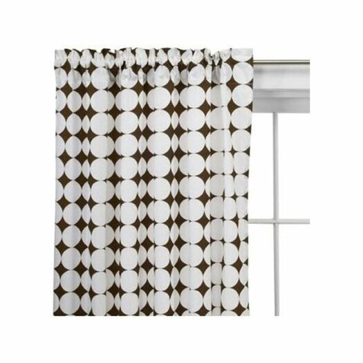 Bacati Reverse Dots Cotton Rod Pocket Curtain Panel