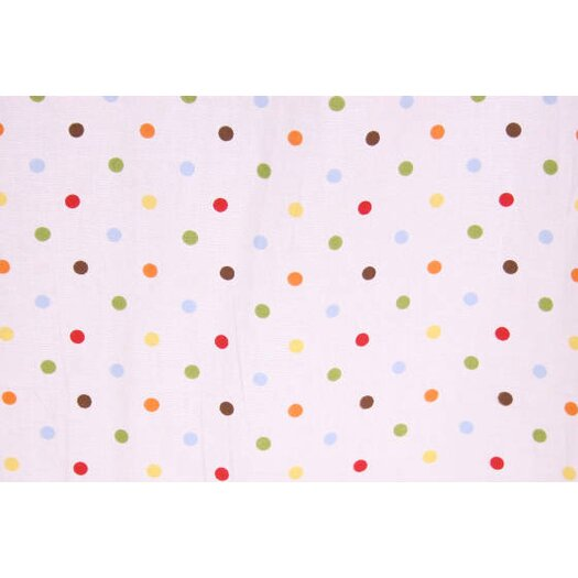 Bacati Baby and Me Dots Crib Fitted Sheet