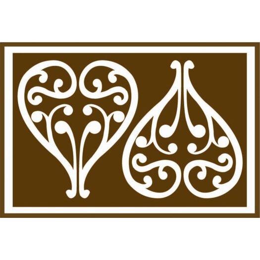 Bacati Damask Brown Area Rug