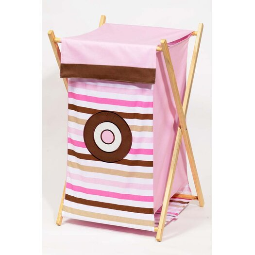 Bacati Mod Dots and Stripes Hamper