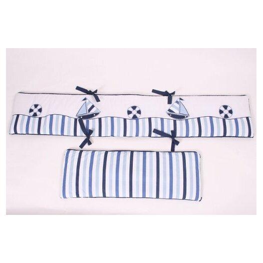 Bacati Little Sailor Bumper Pad