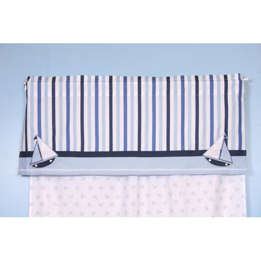 "Bacati Little Sailor 58"" Curtain Valance"