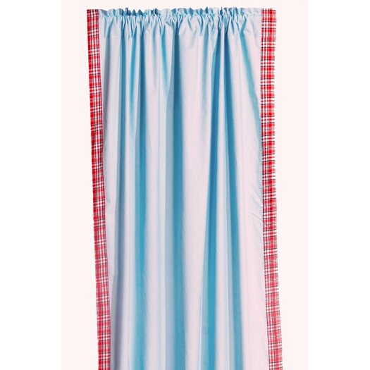 Bacati Boys Stripes Cotton Rod Pocket Curtain Panel