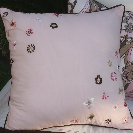Bacati Retro Flowers Pillow