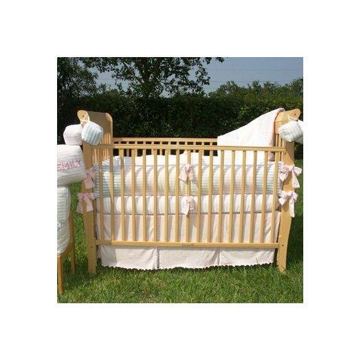 Bacati Jersey Knit Girls 4 Piece Crib Bedding Set
