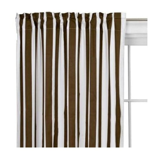 Bacati Stripes Cotton Rod Pocket Curtain Panel