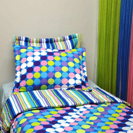 Bacati Dots and Stripes Comforter Set
