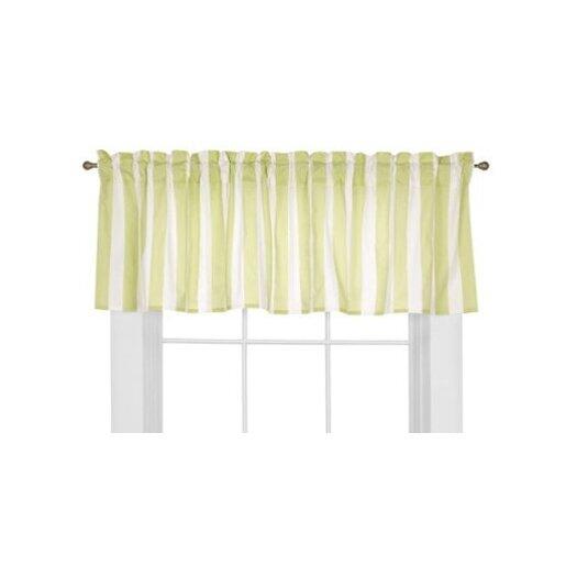 "Bacati Flower Basket Rod Pocket Tailored 58"" Curtain Valance"