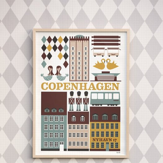 ferm LIVING Copenhagen Unframed Vintage Advertisement