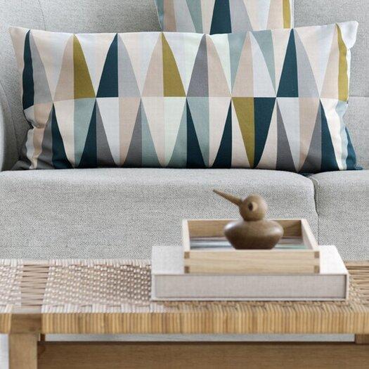 ferm LIVING Spear Organic Cotton Canvas Lumbar Pillow