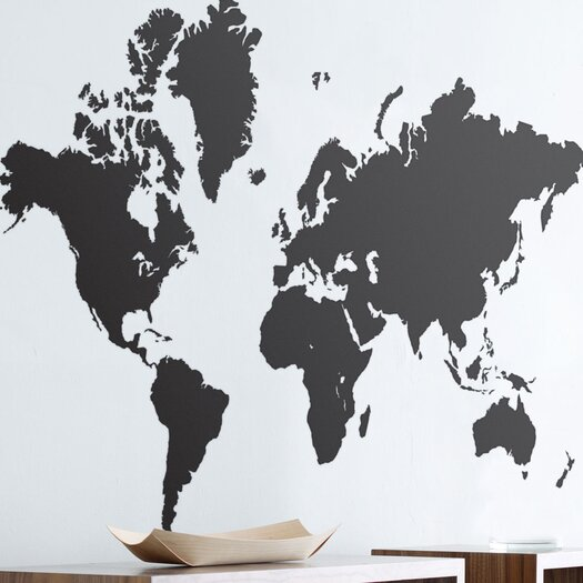 ferm LIVING World Map Wall Decal
