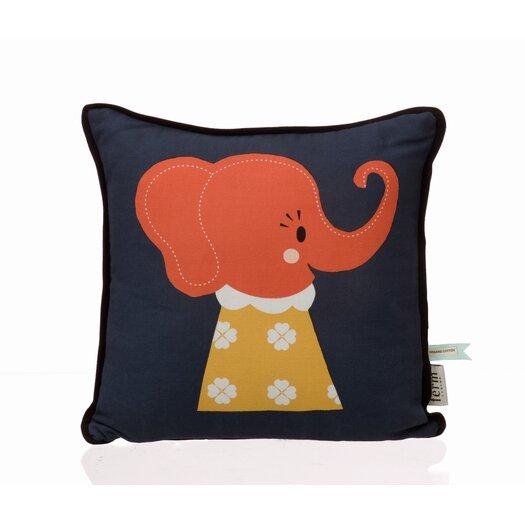 Elle Elephant Organic Cotton Pillow