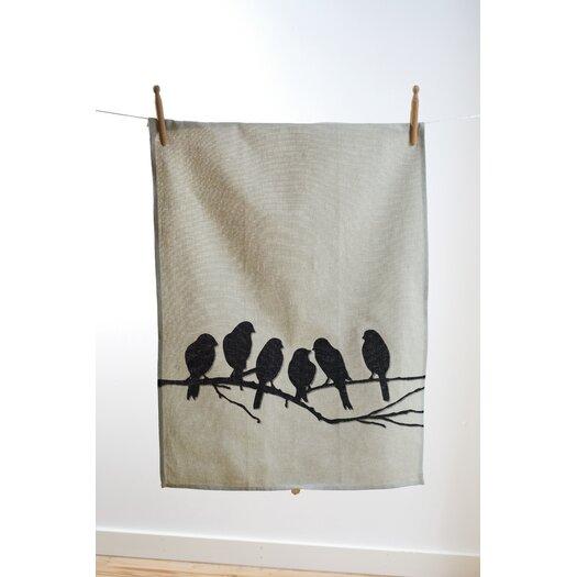 ferm LIVING Lovebirds Kitchen Tea Towel