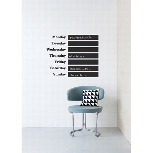 ferm LIVING This Week Chalkboard Wall Decal