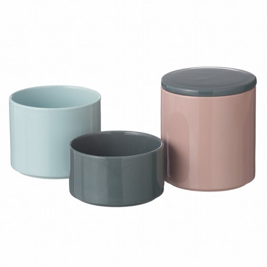 ferm LIVING 3-Piece Stackable Jar Set