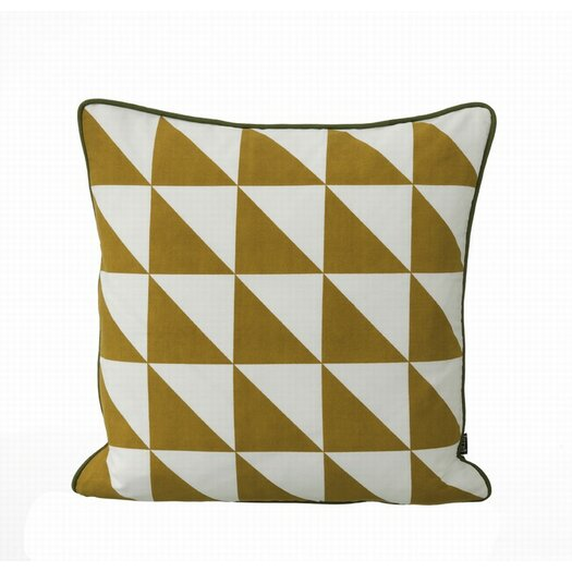 ferm LIVING Large Geometry Organic Cotton Canvas Cushion
